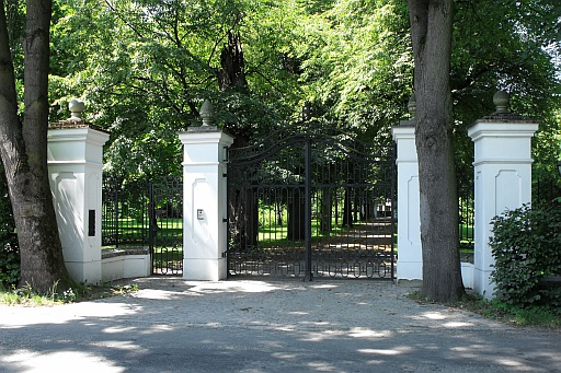 A manor gates at Lusławice
