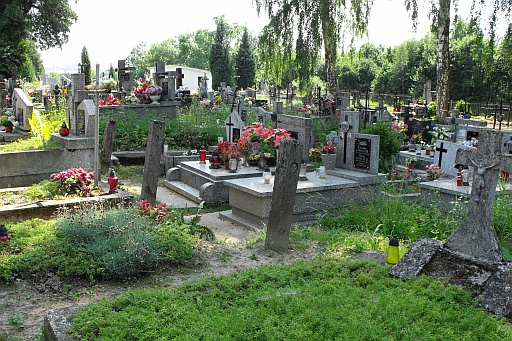 A view of cemetery in Zakliczyn
