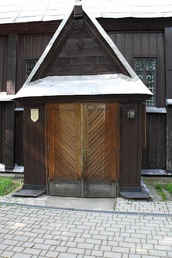 A 1500's wooden church. The doors.