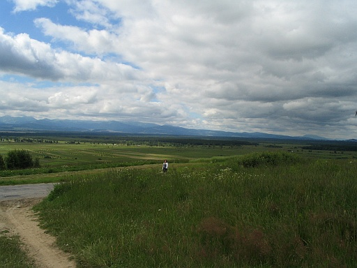 Piekelnik nearby Odrowąż. Panoramic view of Tatra Mountains and Shellie in the distance :-).