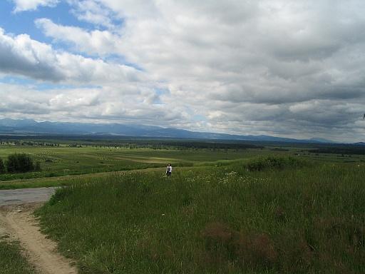 Piekelnik nearby Odrowąż. Panoramic view of Tatra Mountains and Shellie in the distance :-).