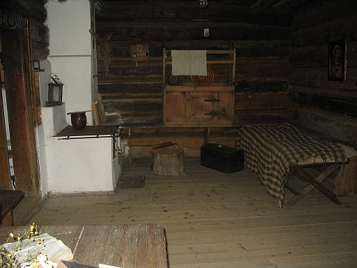 Interior of Orawa traditional house