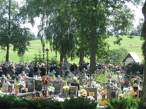 Procession to a cemetery
