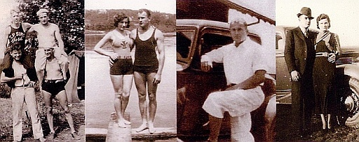 Young Ted Kolavic With Friends and Wife Verna
