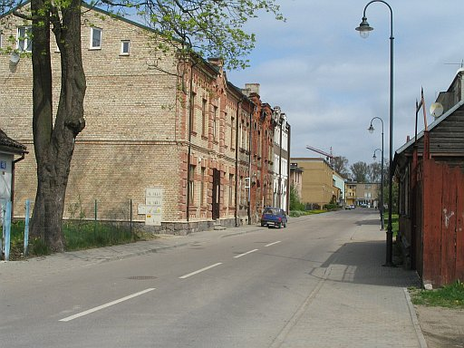 Suwałki region. Street in the old part of Suwalki town where ancestors lived.