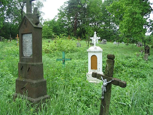 Tarnów area. The oldest cemetery in the neighborhood. We found there a few surnames which appear in my guest's family tree.