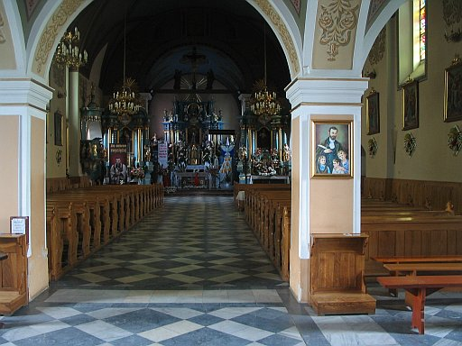Tarnów area. Church in Lisia Góra - interior.