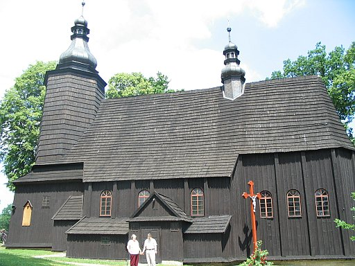 One of the many wooden churches in Jaslo region