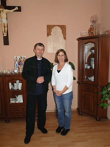 With the parish rector in Wasewo
