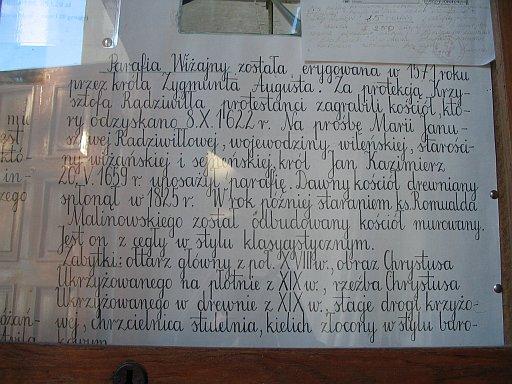 History of Wizajny parish