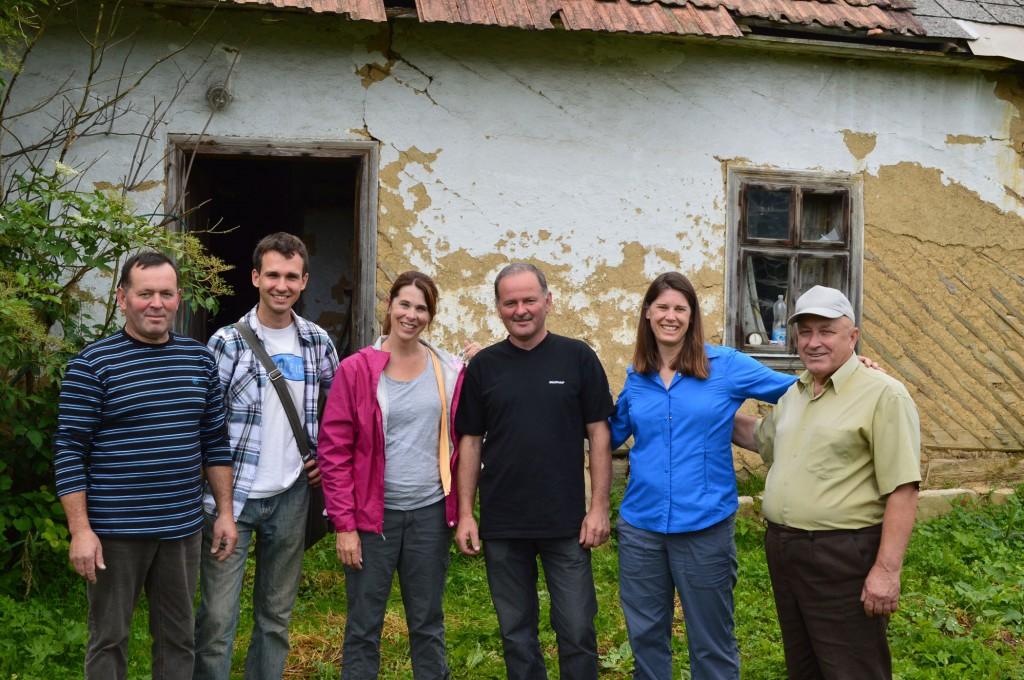 Eugeniusz, Paweł, Susanne, Edward, Kim,  Stanisław house 32 Mecina
