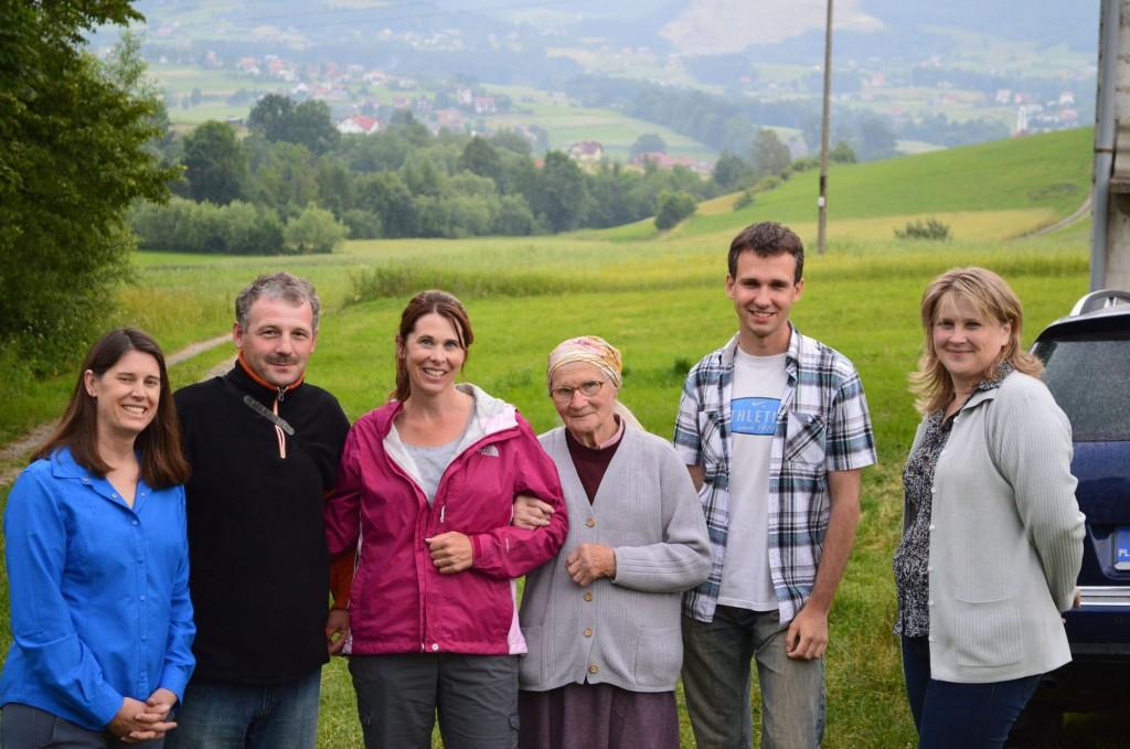 Grandma's niece in middle Elisabeth on far right