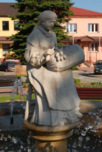 The Lacemaker ? fountain in Bobowa