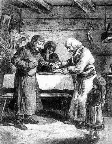 wigilia Rys. z czasopisma Kłosy 1878 r.