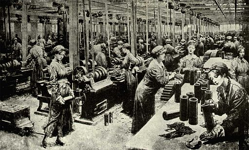 Work in a 19th century factory. Source: histmag.org.