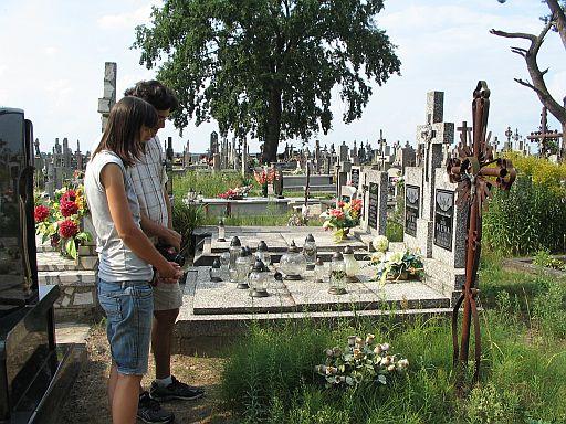 Ojcze Nasz. Our Father prayer with newly-found cousin.