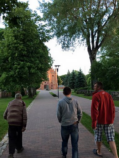 Jonas and Henryk took us to the nearby parish seat of Kernave where the new (1914) church stands.