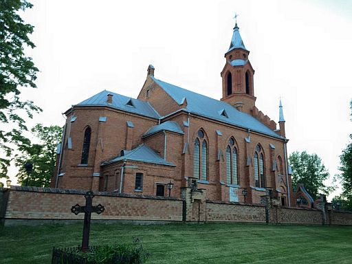 The new Kernave parish church that the Jurkiewicz family attends.