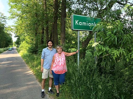 Mom and I made it together to the Polish village my great grandfather Ludwik Jadczuk left 100 years ago to immigrate to America.